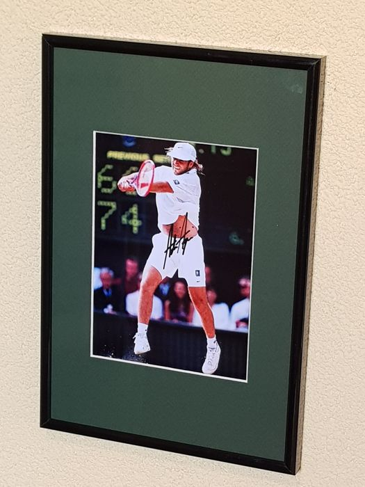 Andre Agassi - Tennis Legend - hand signed framed photo in professional passepartout + COA