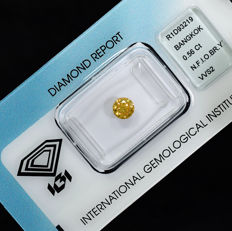 Natural Fancy Intense Orangy Brownish Yellow Diamond - 0.56 ct, VVS2