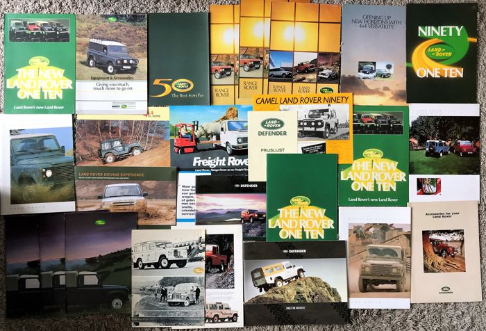 Brochures / Catalogi - Verzameling Land Rover 88/109, 90/110, Defender  - 1969-2016 (27 items)
