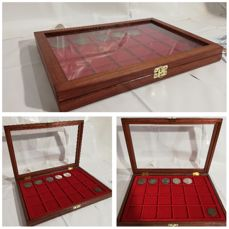 Coin display case display case - Made in Italy realizzato a mano