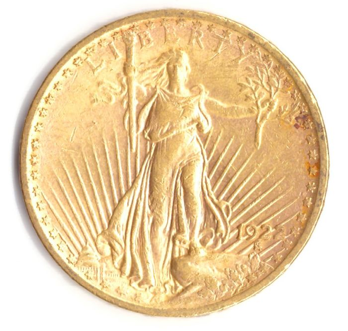 United States - 20 Dollar 1922 St Gaudens - 1 Oz - Gold