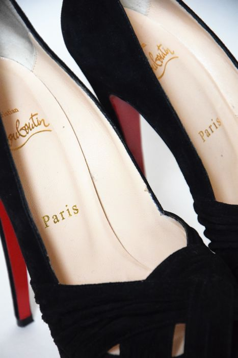 a114c4ee23f Christian Louboutin - Peep Toe shoes in suede - Catawiki