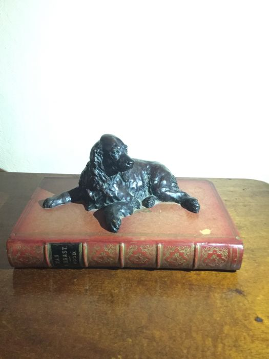 Bronze Dog on a book
