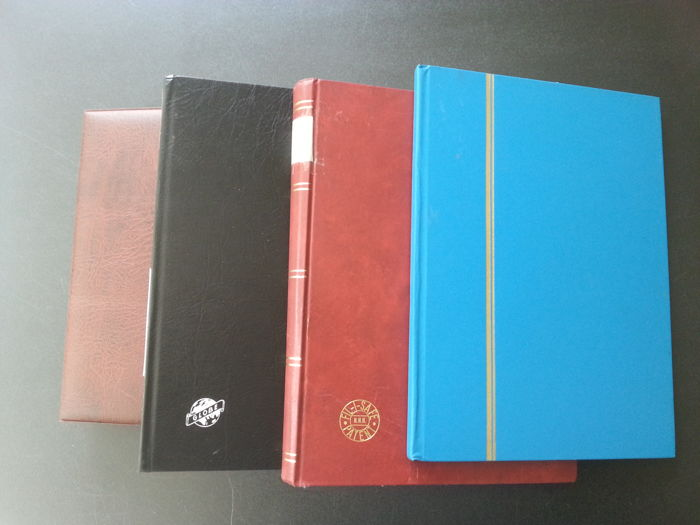 World 1890/1980 - lot of different countries in three stick books and album