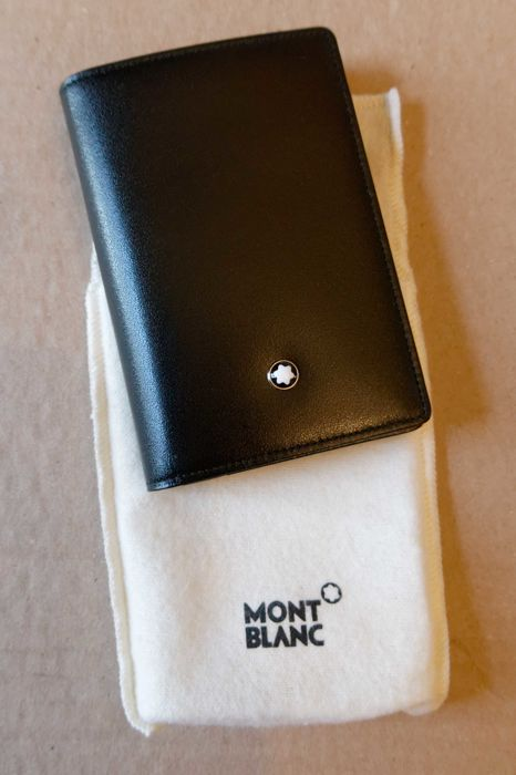 new leather montblanc business card holder - Mont Blanc Business Card Holder
