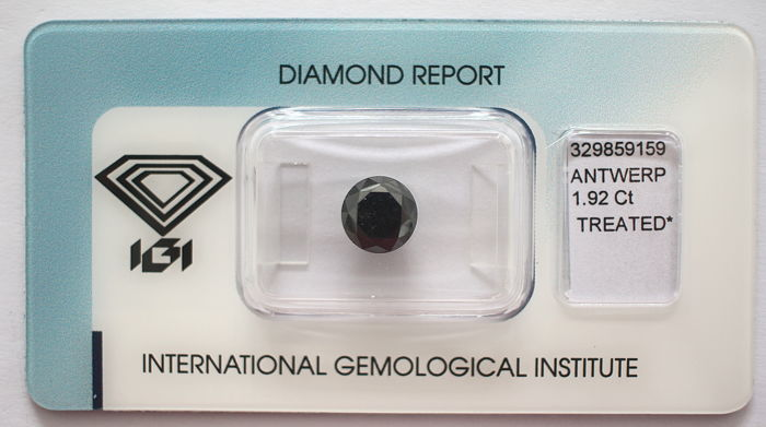 Black Diamond 1.92 CT with IGI certificate***No minimum price***