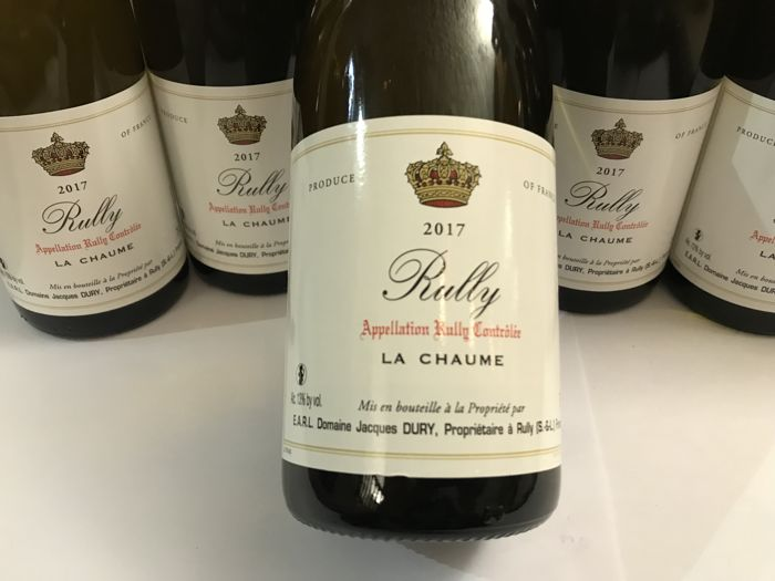 """2017 Rully """"La Chaume"""" Domaine Jacques Dury - 6 bottles"""