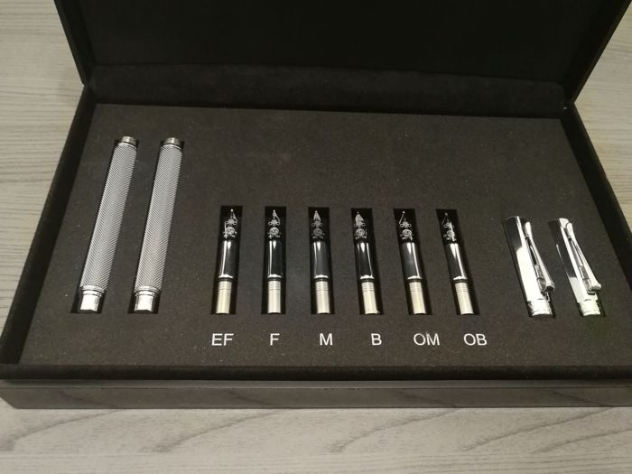 Ultra rare Caran D'Ache Various Ivanhoe nib test set fountain pens, never on sale, never used
