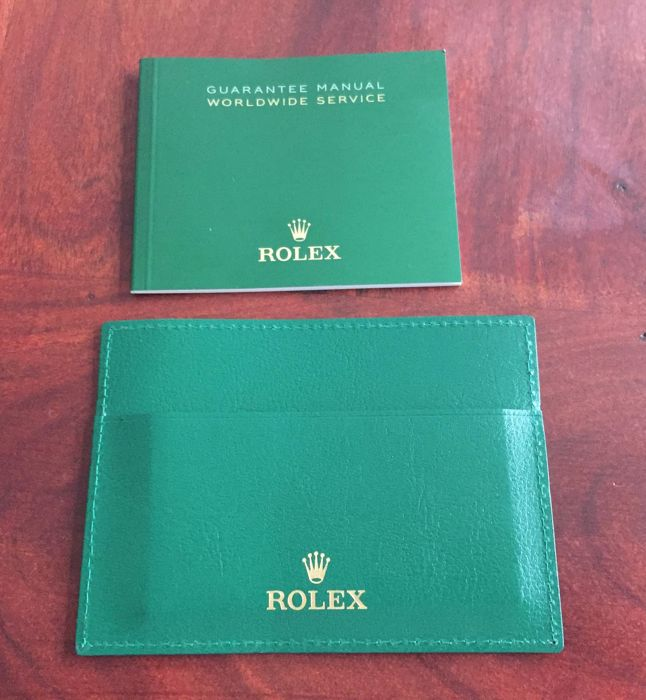 Rolex guarantee set 2 items
