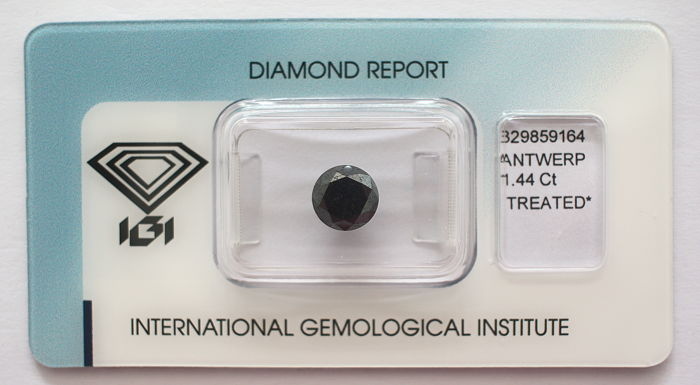 Black Diamond 1.44 CT with IGI certificate***No minimum price***