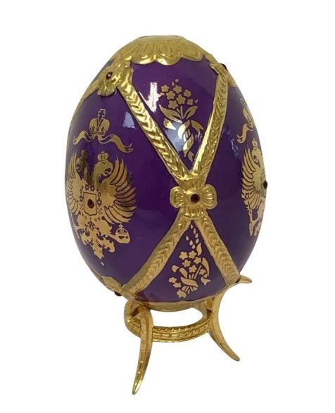 Faberge Imperial Jeweled Egg by Franklin Mint - Imperial Crest - Ca. 1990