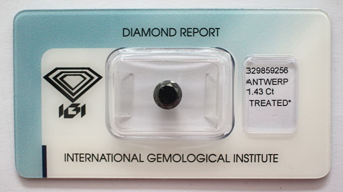 Black Diamond 1.43 CT with IGI certificate***No minimum price***