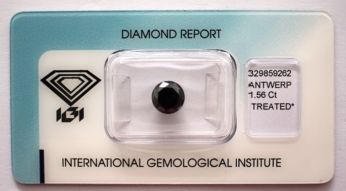 Black Diamond 1.56 CT with IGI certificate***No minimum price***