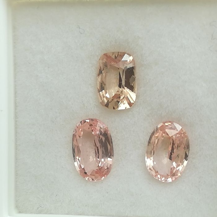 Lot of 3 padparadscha sapphires - 1.96 ct