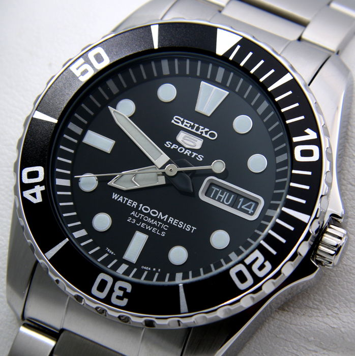 Seiko - Automatic 23 Jewels Black Dial - - NO RESERVE PRICE - - Herren - 2018
