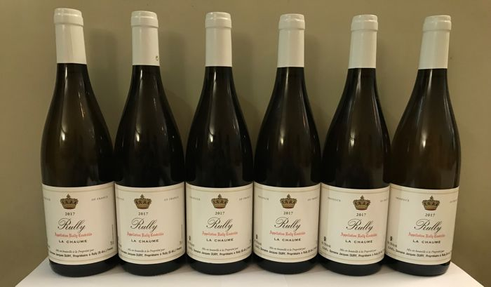 "2017 Rully ""La Chaume"" - Domaine Dury - Bourgogne - 6 Bottles (0.75L)"