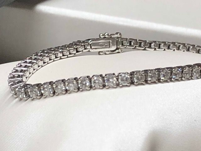 18 carats Or - Bracelet - 3.25 ct Diamant