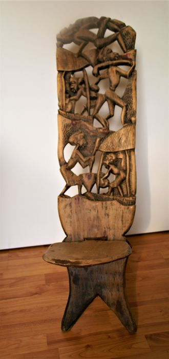 African Chair Antique Carved Childs Chair Birthing Chair Decorative Chair