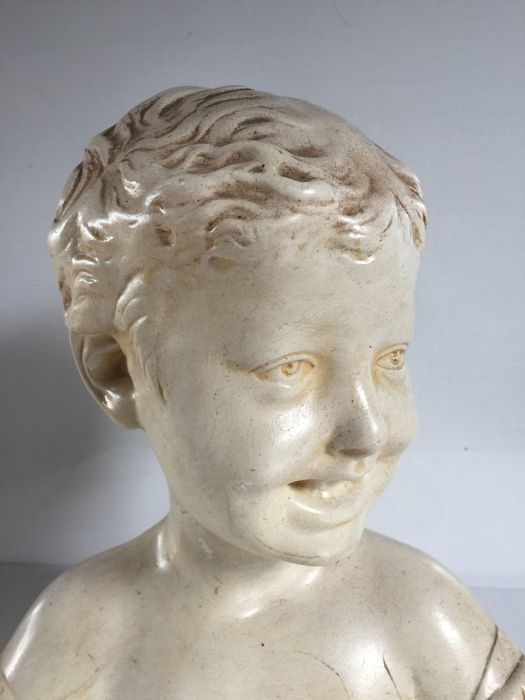"""Plaster bust after """"Donatello's child"""" from the Florence Museum - France - early 20th century"""