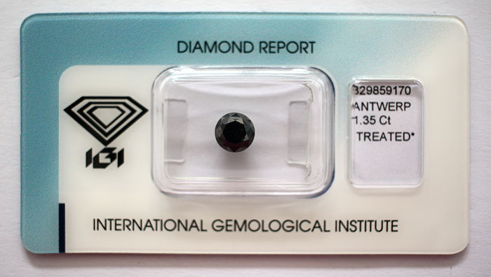 Black Diamond 1.35 CT with IGI certificate***No minimum price***