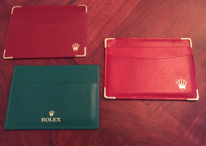 Rolex card holders 3x different colors and period