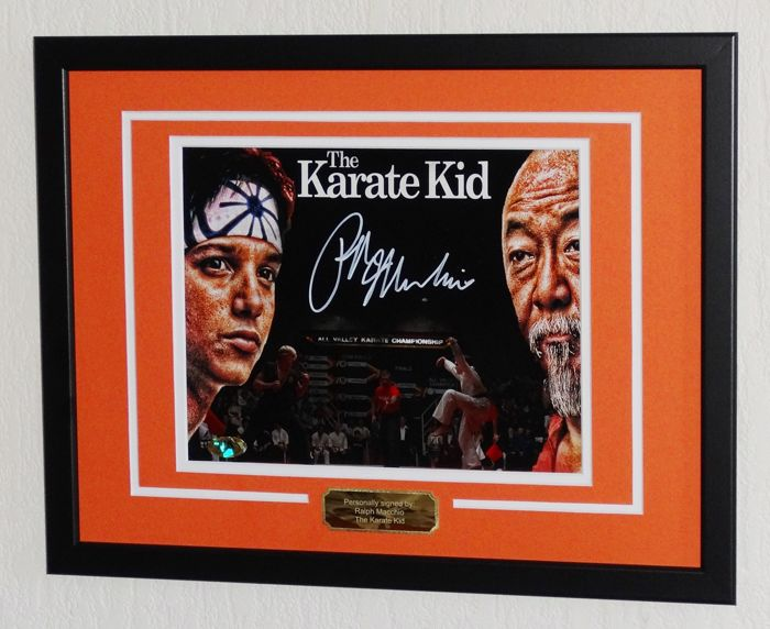 The Karate Kid - Ralph Macchio originally hand signed photo - Deluxe framed + MAB certified