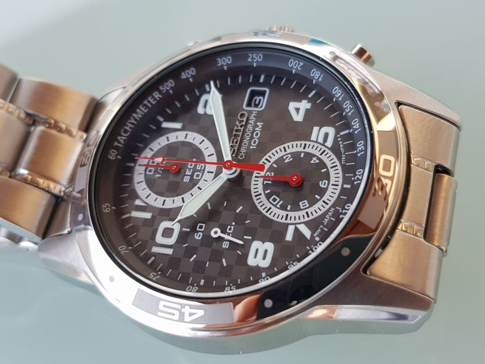 Seiko - Chronograph 100m  ''NO RESERVE PRICE'' - 7T92-0FD0 - Heren - 2011-heden