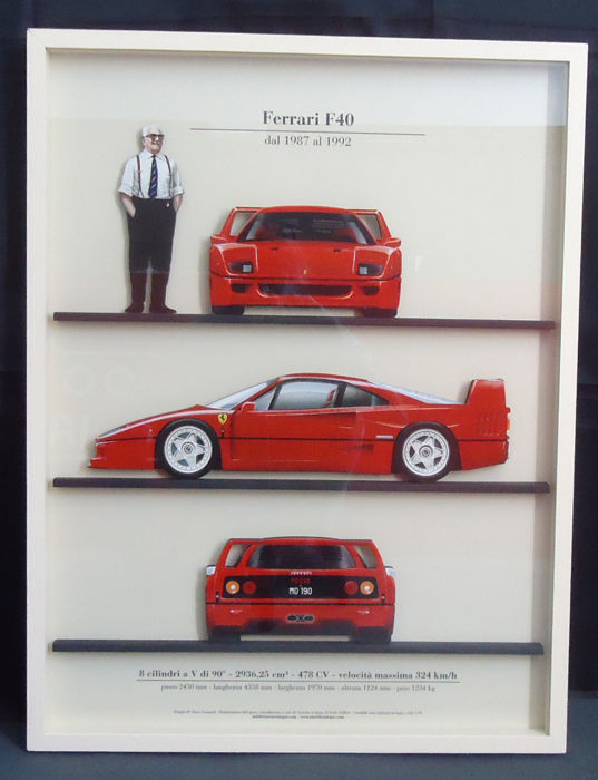 Decorative item - Ferrari F40 (Enzo Ferrari)