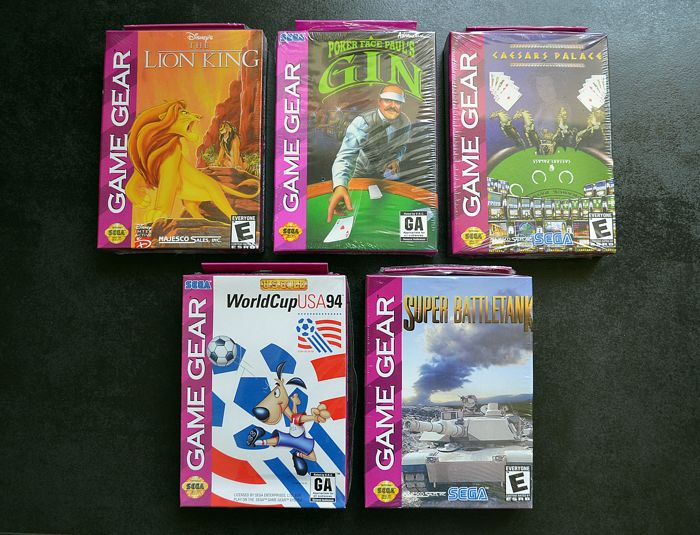 5 Brand new games SEGA Game Gear some rares like The Lion King and more