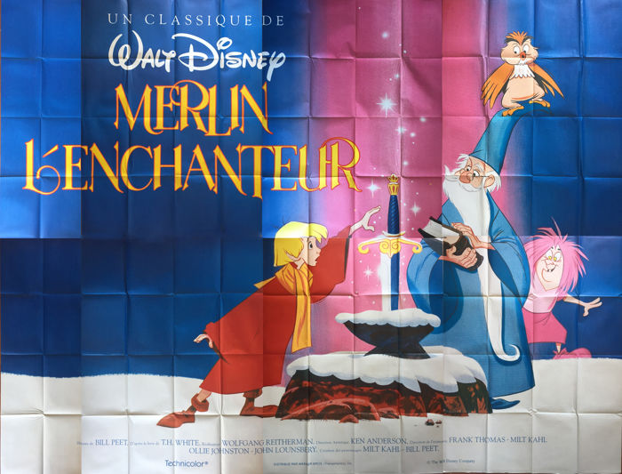 Merlin L'enchanteur - Large Movie Poster - The Sword in the Stone  (1978)
