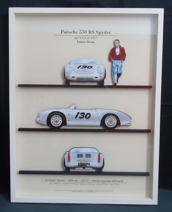 Oggetto decorativo - Porsche 550 RS Spyder (James Dean)