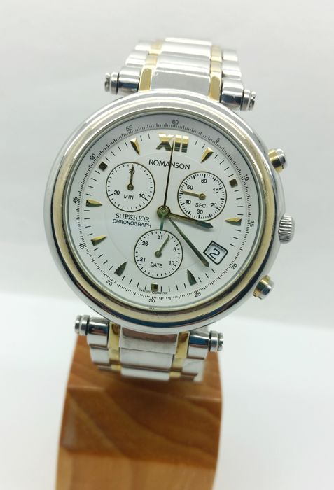 Romanson - Superior Swiss chronograph - RT0403 - Heren - 2000-2010