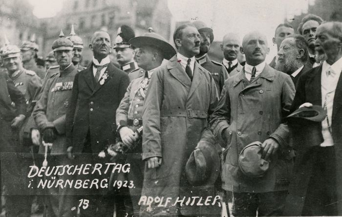 Unknown/International News Service/Streicher series - Adolf Hitler during a demonstration in Nuremberg, 1923
