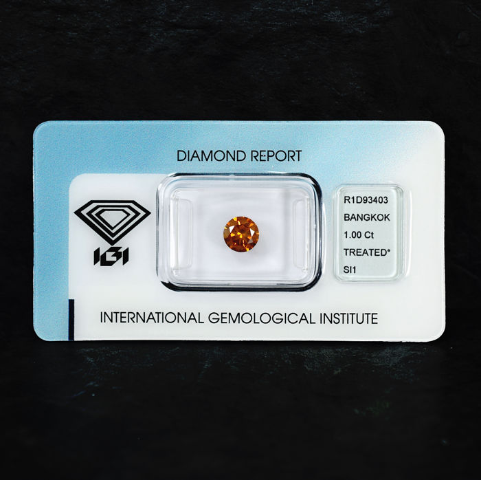 Fancy Intense Orange Diamond - 1.00 ct, SI1