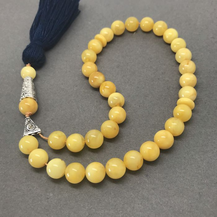 Islamic prayer beads – Baltic amber beads of 9 mm - kehribar tesbih