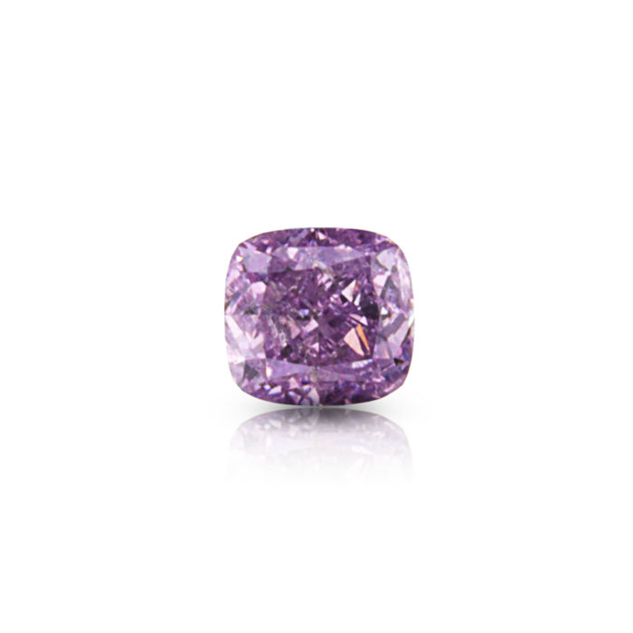 0.26 ct. Exceptional Natural Fancy Intense Pink Purple Cushion Modified Brilliant Cut Diamond, GIA Certified