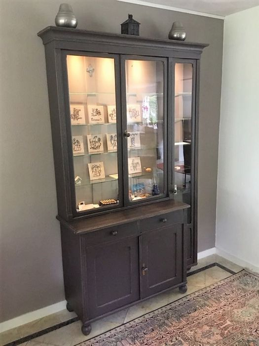 Wooden Asymmetric Pharmacy Cabinet   Germany   Early 20th Century