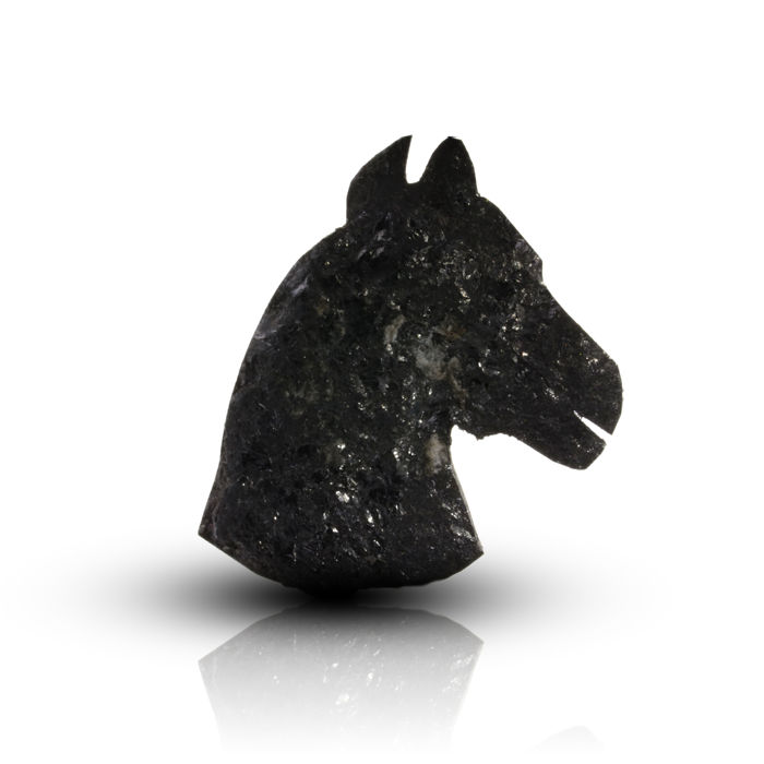14.15 ct. Treated Black Horse head Shape Diamond