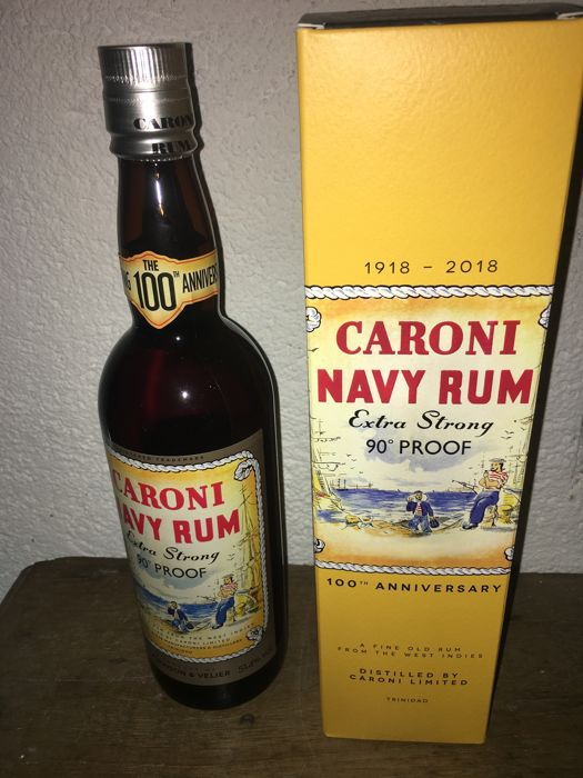 Caroni 18 years old LMDW & Velier - Navy Rum Replica Extra Strong - 100th Anniversary - 70厘升