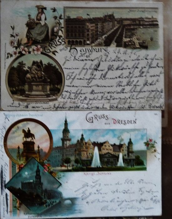 74x quality postcards mostly lithographs greetings from 74x quality postcards mostly lithographs greetings from germany circulated cards m4hsunfo