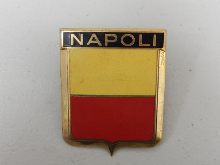 Crachá - Vintage Drago Napoli Italy Car Badge Auto Emblem - 1960