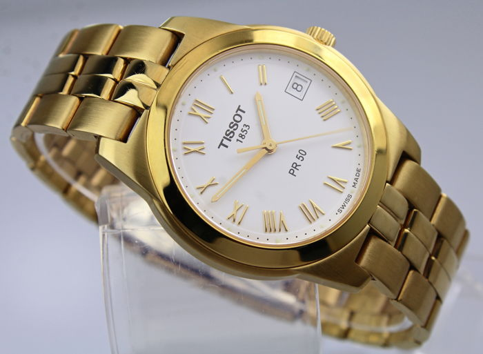 Tissot - Gold Plated  - PR50 - Original Box & Papers  - Heren - 2011-heden