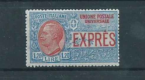 Italy 1922 - Espresso type of 1908 for abroad, MLH. - Sassone 8