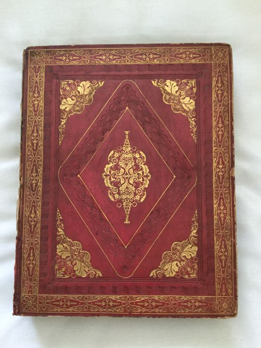 "18th. / 19th. Century Bound Note Book. "" Multitude of Coloured Bookplates """