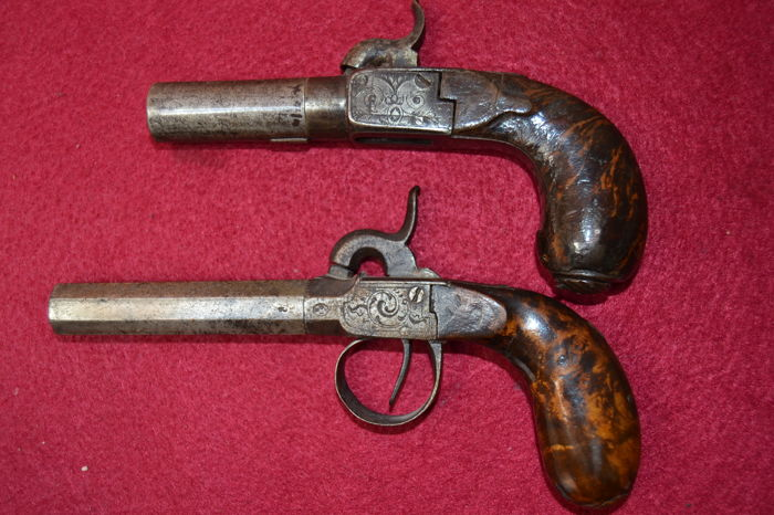French Pair (2) of Pocket Pistols