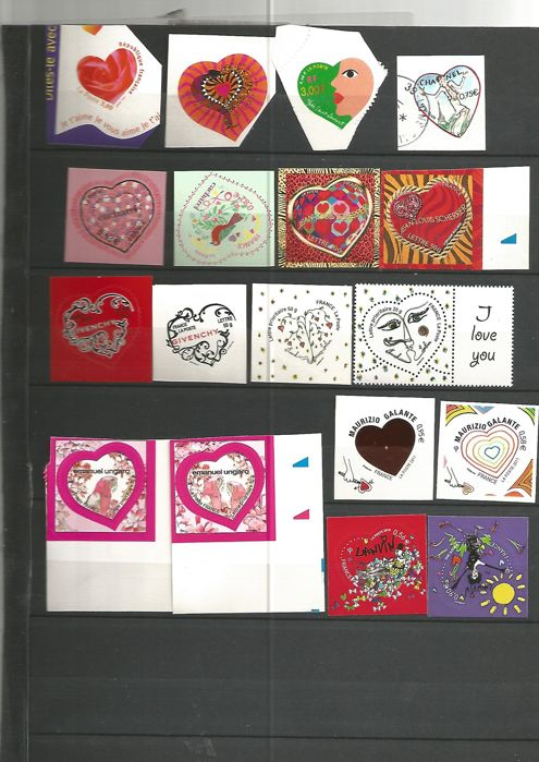 France 1999/2010 - adhesifs stamps and personalize