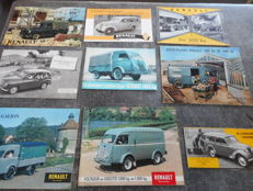 Brochures / Catalogi - Renault - 1950-1960 (9 items)