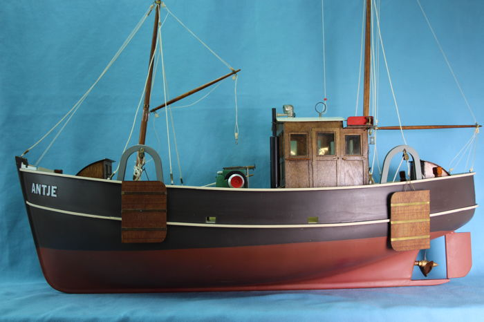 Professional Large Scale Model Of German North Sea Traditional Fishing Boat Radio Controlled