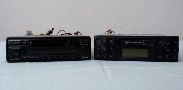 Autoradios cassette players - Becker Mercedes Audio 10 and Pioneer KEH-M7400RDS - 1991