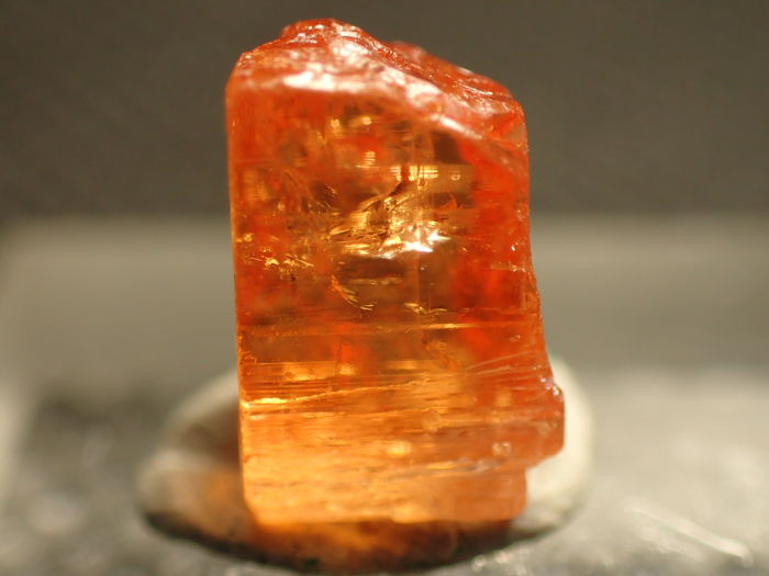 Rare Beautifully Transparent Imperial Topaz Crystal Katlang, Pakistan - - - 13,50ct - (2)